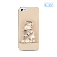 2017 Phone Case For Apple iPhone 6 6S 6Plus 6s Plus 4 4S 5 5S SE Soft TPU Silicon Transparent Cover Cute Cat Owl Animal Phone Cases -0329