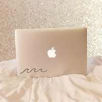 Waves - Waves Decal - Laptop Decal - Macbook Decal - Laptop Sticker - Macbook Sticker - Car Decal - Trackpad Decal - Trackpad - Car Sticker
