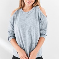 Silence   Noise Cold-Shoulder Sweater