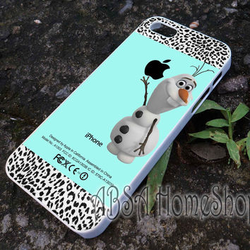 tiifany leopard olaf disney frozen case for iPhone 4/4s/5/5s/5c/6/6+ case,iPod Touch 5th Case,Samsung Galaxy s3/s4/s5/s6Case, Sony Xperia Z3/4 case, LG G2/G3 case, HTC One M7/M8 case galaxy