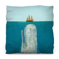 The Whale Outdoor Throw Pillow
