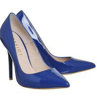 Office On To Point Courts Royal Blue Patent Leather - High Heels