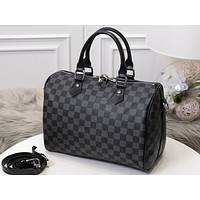 LV Fashion Hot Sell Man-India Single Shoulder Bags for Men and Women Black lattice