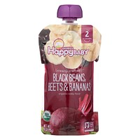 Happy Baby Organic Baby Food - Black Beans - Banana - Case Of 16 - 4 Oz