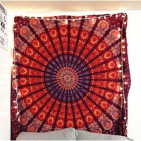 Medallion Feather Hippie Wall Hanging Dorm Tapestry Bohemian Decor – TheNanoDesigns