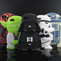 The Force!  Star Wars Themed Soft Cell Cases for iPhone 4, 4s, 5, 5s, 6, 6s, plus