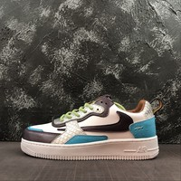 Travis Scott X Nike Air Force 1 Af1 White/ Peacock Blue/ Purple Low Ac Sneakers - Best Online Sale