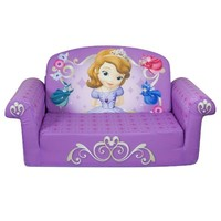 Marshmallow Children's Furniture - 2 in 1 Flip Open Sofa - Disney Princess Sofia The First