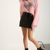 Pixie & Diamond Open-Knit Sweater