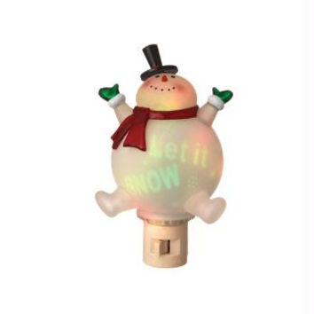 Snowman Night Light - Swivel Base And Plug Compatible With Any Outlet Position