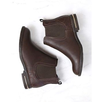 Final Sale - Chelsea Ankle Boots in Brown