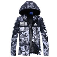 One-nice™ ADIDAS Women Men Cardigan Jacket Coat Windbreaker