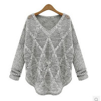 Stylish Pullover Knit Tops Women's Fashion Summer Sweater [6281576260]