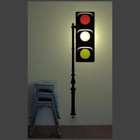 Kids Night Light - Wall Sticker Lamp - Traffic Light