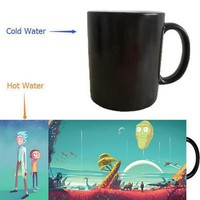 Rick and Morty heat activated coffee mug