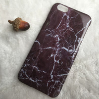 Purple Black Marble iPhone 5s 6 6s Plus Case Cover Gift 2