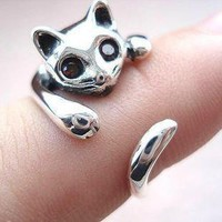 925 Sterling Silver Cat Ring by adalia on Zibbet