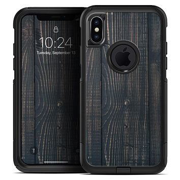 Vertical Blackwashed Woodgrain - Skin Kit for the iPhone OtterBox Cases