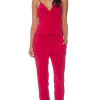 Rory Beca Coral Wrap Jumpsuit in Fuchsia