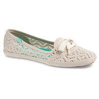 Keds Beige/Khaki Teacup Crochet Shoes - Women