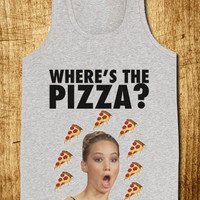 Jennifer Lawrence Where's the Pizza for Tank Top Mens and Tank Top Girls