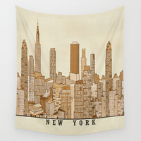 new york vintage (option) Wall Tapestry by Bri.buckley