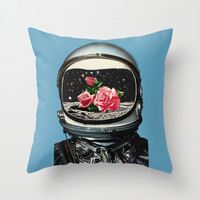 Spring Crop at the Rosseland Crater Throw Pillow by Eugenia Loli
