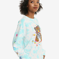 Lisa Frank Hunter The Leopard Tie Dye Girls Long-Sleeve T-Shirt