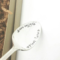 Coffee Now Pinot Later  -Stamped Spoon  -Gift for Best Friend /Gift for Wine Lover