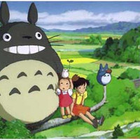 My Neighbor Totoro Cast on Perch Poster 11x17