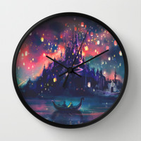 The Lights Wall Clock by Alice X. Zhang