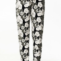 Floral Loose Fit Joggers Harem Pants Women's Boho Chic Bottoms Fitness Workout Running Dancing Pants