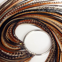 Natural Feather Extensions Long Hair Feathers by featherswholesale