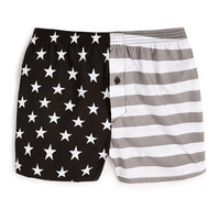 Black Americana Woven Underwear - Men's Underwear  - Clothing