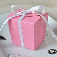 12 Pink Chinese Mini Take Out Boxes Wedding Party Favor Container Supply