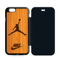 Nike Jordan Wood iPhone 6 Plus|6 Flip Case  Sintawaty.com