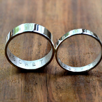 Personalized Secret Message Rings (Set of 2)