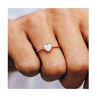 Heart of Pearl Ring Rose Gold