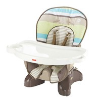 Fisher-Price Striped SpaceSaver High Chair (Tan/Green/Teal)
