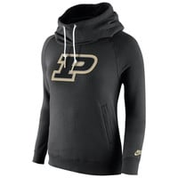 Purdue Boilermakers Nike Womens Rally Funnel Hood-Rewind Sweatshirt – Black