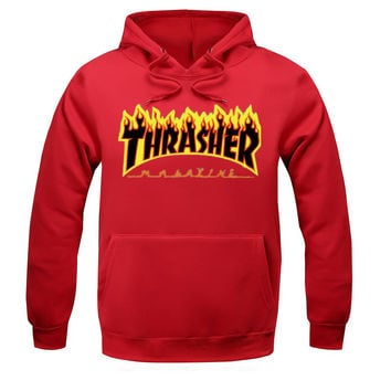 Thrasher Magazine Flame Logo Red Hoodie