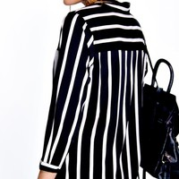 Dyana Contrast Stripe Pocket Shirt Dress
