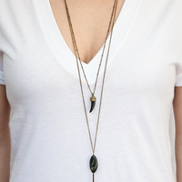 Black Tusk Necklace // Boho Claw, Tooth Pendant // Boho Layering Chain // Extra Long Necklace option