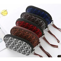 FENDI Stylish Women Popular Multicolor Zipper Toiletry Handbag Cosmetic Bag Purse Wallet
