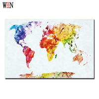 Map Canvas Painting World Map Decorative Pictures Abstract Canvas Art Print Poster For Living Room Modern Cuadros Decoracion