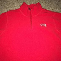 Sale!! Vintage THE NORTH FACE red casual jacket pullover jacket