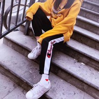 Champion Woman Men Casual Embroidery Pants Trousers Sweatpants