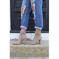 Taupe Scrunch Bootie