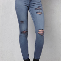 PacSun Slate Gray Ripped Jeggings at PacSun.com