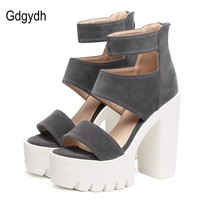Womens Fashion Shoes Gladiator Sandals Casual Cut-outs Open Toe Thick Heels